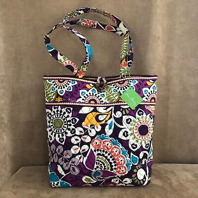 Vera Bradley purse Plum Crazy toggle tote bag new with tags shoulder purse large