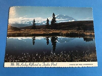 Vintage Postcard Post Card Mt. McKinley Reflected in Tundra Pond Alaska 1977