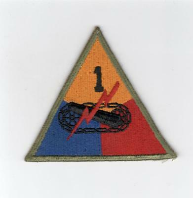 Early 40's WW 2 US Army 1st Armored Division Patch Inv# E110