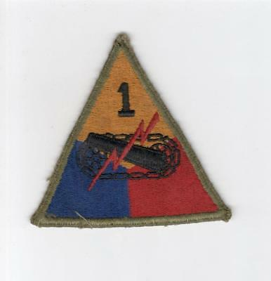 WW 2 US Army 1st Armored Division Greenback Patch Inv# E112