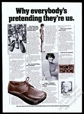 1975 Earth Shoes Anne Kalso photo vintage print ad