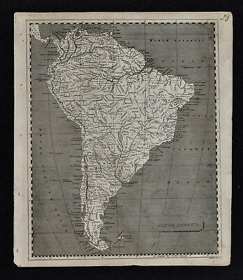 1804 Arrowsmith Map - South America Brazil Colombia Peru Argentina Bolivia Chile