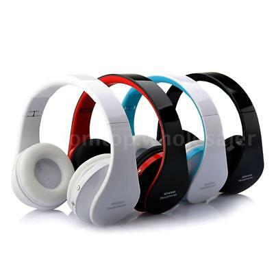 Foldable Wireless Bluetooth Stereo Headset Headphones W/ Mic For iPhone Samsung