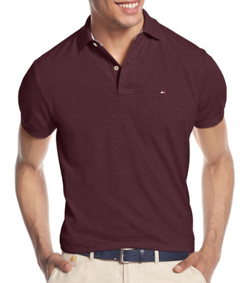 8c74c1ee TOMMY HILFIGER MEN'S Plum Perfect Custom Fit Ivy Polo Shirt - $22.49 ...