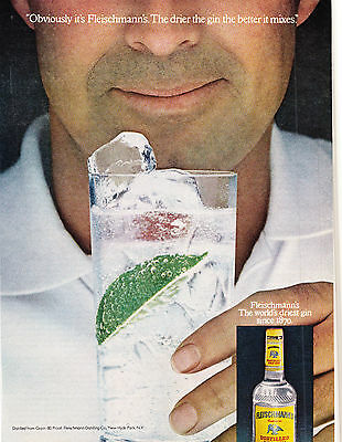 Original Print Ad-1979 Obviously it's FLEISCHMANN'S-The drier the GIN the better
