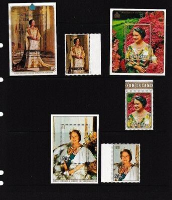 1980 Queen Mother 80th Birthday Stamps, Minisheet,  MNH Various  Islands