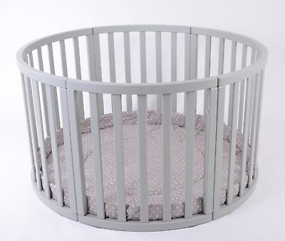 ROUND Playpen APOLLO Quattro with CAPPUCCINO Playmat Dots Brand NEW LARGE SALE