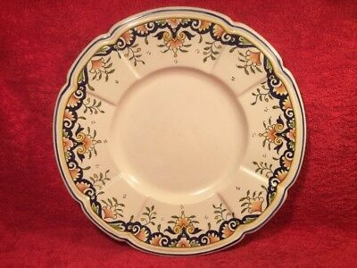 Large Antique French Faience Hand Painted Platter, ff673 ANTIQUE GIFT QUALITY!