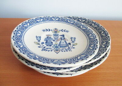 Johnson Brothers Hearts & Flowers Saucer x 5 Blue People Flowers England