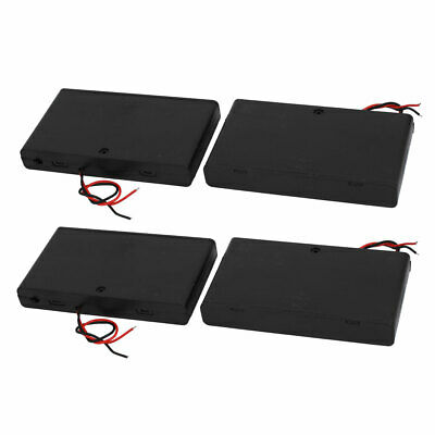 4 Pcs 2 Wires Covered Battery Holder Case for 8 x 1.5V AA Battery