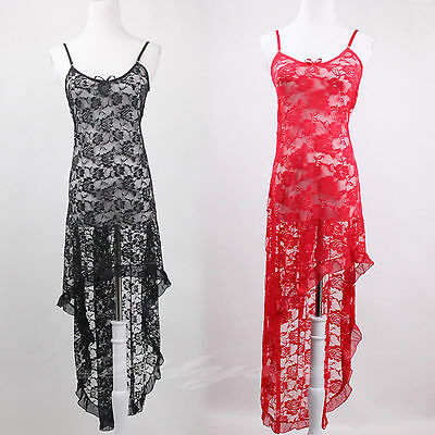 Black Red White Sexy Lace Lingerie Babydoll Gown Plus Size 8-24 S-6XL
