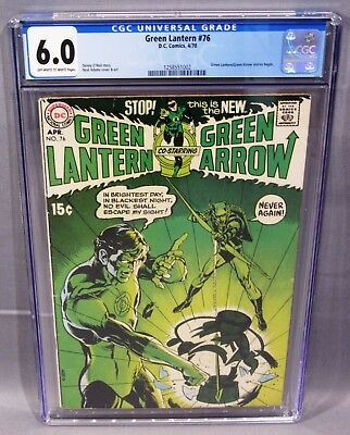 GREEN LANTERN #76 (Neal Adams, 1st Green Arrow Team-Up) CGC 6.0 DC 1970 cbcs