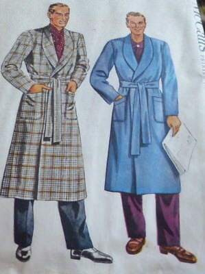 VTG 1940s ROBE McCALLS Sewing Pattern X LARGE 46-48