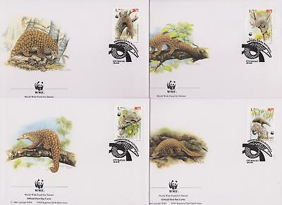 Macau 1995 World Wildlife Fund - Pangolin Anteater  - 4 First Day Covers - (82)