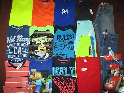 Boys SCHOOL SPRING SUMMER Sz 8  Lot CLOTHES & OUTFITS Shorts Jeans & Tops NEW!!