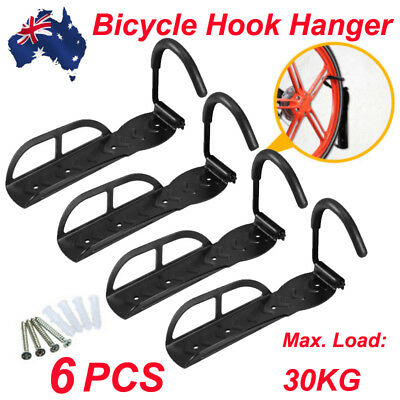1/4/6Pcs Bicycle Hook Hanger Wall Mount Steel Hanging Holder Storage Rack Stand