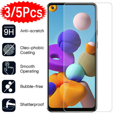 5x Tempered Glass Screen Protector For Samsung galaxy A3 A5 A6 A6+ A8 A7 A9 2018