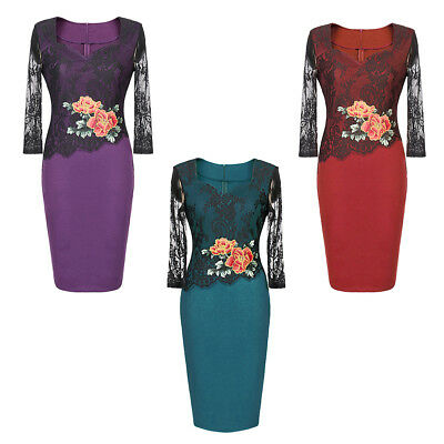 Sexy Women Embroidered Floral Lace Party Evening Dress Chinese Style