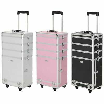 Large Professional Cosmetic Makeup Trolley Vanity Case Storage Hairdressing Box