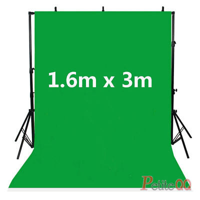Green Background 3m x 1.6m Chromakey Photo Studio Screen For Backdrop Stand UK