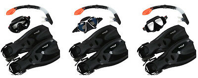 Adult Silicone Dry Top Snorkel, Silicone Mask & F70 fins Dive Set- Two Bare Feet