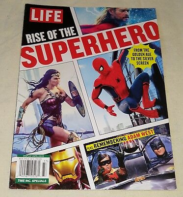 Life Special Rise of the Superhero Adam West Batman Wonder Woman Spider-Man