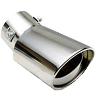 """Universal 2"""" Chrome Stainless Steel Car Rear Round Exhaust Pipe Tail Muffler Tip"""