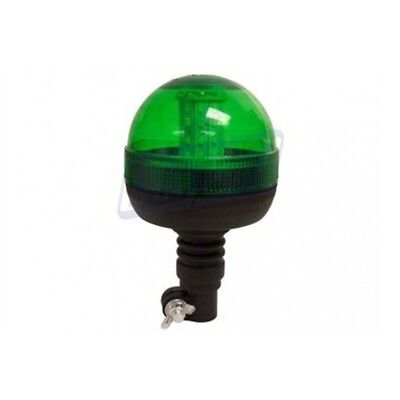 Green Beacon LED - 12/24v Flexi Din Pole Mount R10/ip66 - Mp40934 1224v R10ip66