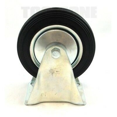 "6"" (150mm) Rubber Fixed Castor Wheels Trolley Furniture Caster (2 Pack) Rm014 -"