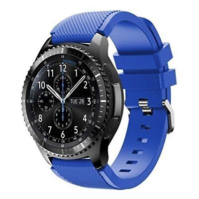 Blue Silicone Strap Wrist Band For Samsung Gear S3 Frontier Classic Watch