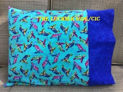 Travel Pillow case, Sea Turtles, 12x16 Pillowcase, Personalized Pillow Covers