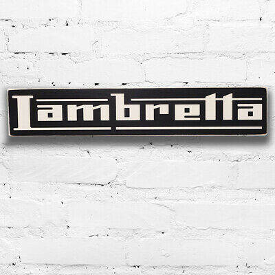 Lambretta Scooter Mods Wooden Sign Vintage Style 50cm Hand Painted Wood Plaque
