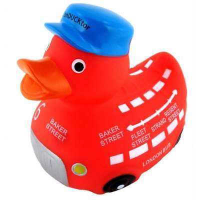 London Red Bus Rubber Duck - the ConDUCKtor