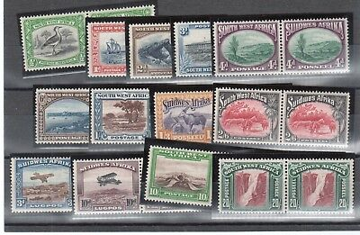 South West Africa #108 - #210 Very Fine Mint Original Gum Hinged Pair Set