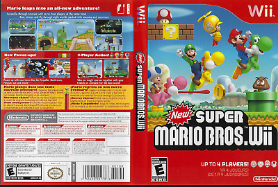 Nintendo Wii New Super Mario Bros.  (Wii, 2009) Rated E Complete