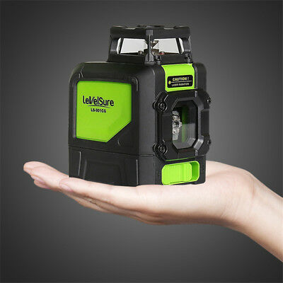 Laser Level 5 Line Green Self Leveling Outdoor 360° Rotary Cross Measure Tool