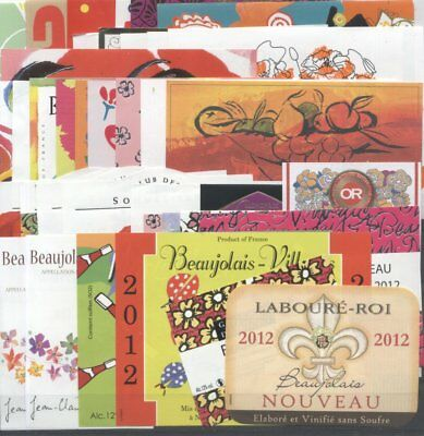FREE SHIPPING BEAUTIFUL LOT OF 100 BEAUJOLAIS BEAUTIFUL FRENCH WINE LABELS