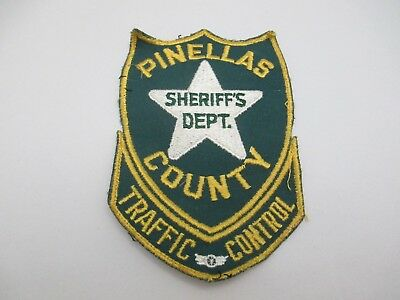 VINTAGE PINELLAS COUNTY, Florida Sheriff's Dept  Traffic Control Patch