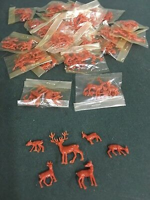 Lot Of 20 Packages Vintage Deer Crafting Pieces Miniatures - 6 pcs. In ea. -NOS