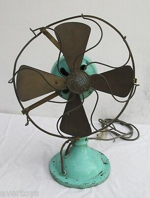 Old Diehl Oscillating Electric Fan, Rare, Complete, Not Tested, For Restore,used