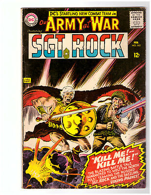 OUR ARMY AT WAR #163 in FN grade 1966 DC WAR comic w/ SGT ROCK & VIKING PRINCE