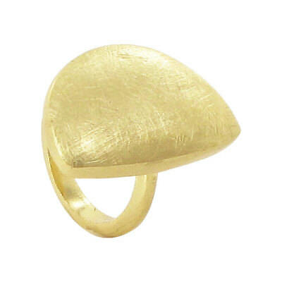 Gold Plated Designer Scratch Style Ring Size 5 - 10