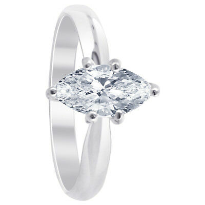 925 Sterling Silver CZ Cubic Zirconia Solitaire 3mm Ring Size 5 - 10