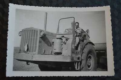 Vintage Photo Man Driving Caterpillar Earth Moving Tractor 862