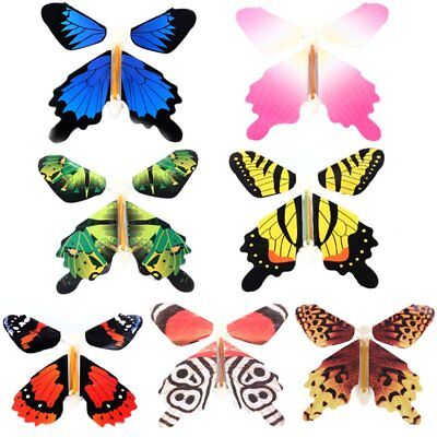 7Pcs/set Magic Flying Butterfly Change From Empty Hands Tricks Prop Toy Game New