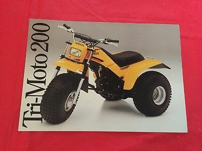 "1983 Yamaha ""Tri-Moto 200"" Motorcycle Dealer Sales Brochure"
