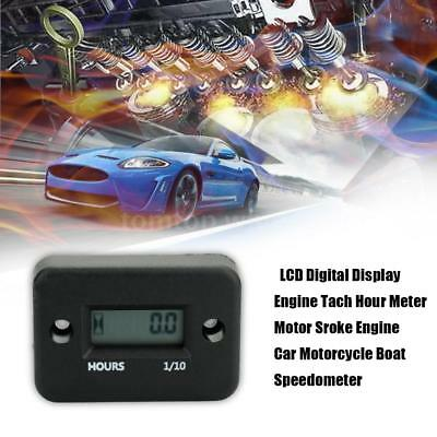 Lcd Digital Display Tach Hour Meter Motor Sroke Engine Car Boat Speedometer Z8J1