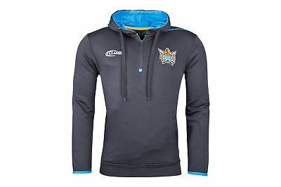 Classic Sportswear Mens Gold Coast Titans 2018 NRL Hooded Rugby Sweat Grey