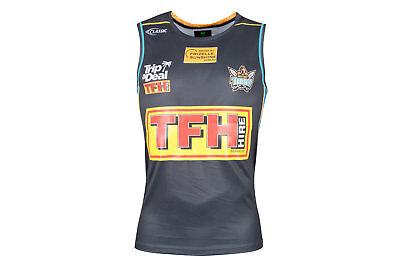 Classic Sportswear Mens Gold Coast Titans 2018 NRL Players Rugby Singlet Grey