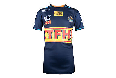 Classic Sportswear Unisex Gold Coast Titans 2018 NRL Youth Rugby T-Shirt Navy